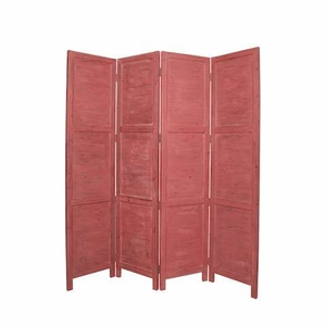 Handmade Nantucket Screen Crafted with Solid Cedar Wood in Red Brand Screen Gem