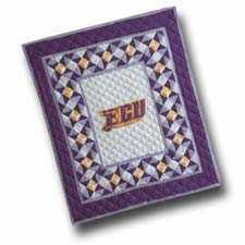 Handmade Quilted Throws with the East Carolina University Logo Brand C&F