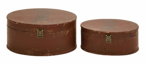 Handmade Round Wooden Trinket Box Set Perfect For Jewelry Brand Woodland