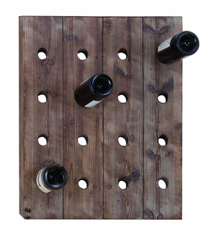 Handmade Rustic Hangable Wine Rack With 16 Slots Brand Woodland