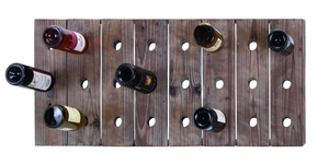 Handmade Rustic Hangable Wine Rack With 24 Slots Brand Woodland