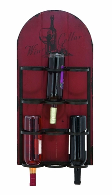 Handmade Rustic Hangable Wine Rack With 6 Slots Brand Woodland
