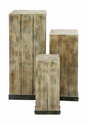 Handmade Wood Pedestal Set For Your Decor Items Brand Woodland