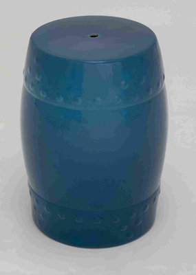 "Handy and Lightweight 18"" H Ceramic Stool in Calm Blue Brand Woodland"
