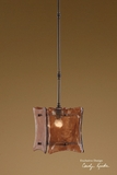 Hanging Lamp - Unique Chandelier Made With Toffee Like Glass Brand Uttermost