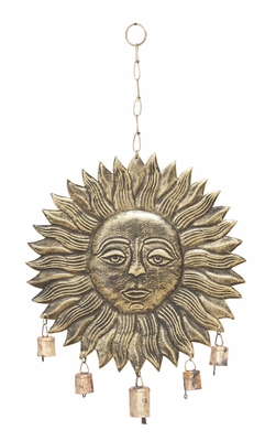 Hanging Sun Face Wind Chime For Melodious Sound Brand Woodland