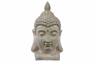 Harmonious Buddha Face in Attractive Fiberstone