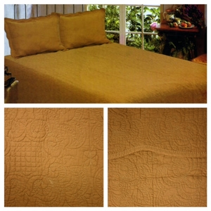 Harmonious Mist Tea Dyed Cotton Filled Quilt in Queen Size by American Hometex