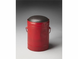 "Harper Red Bucket Stool 11""Diam. by Butler Specialty"