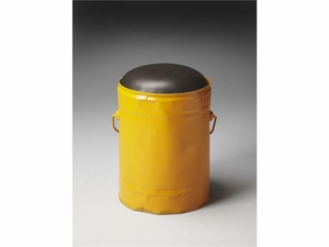 "Harper Yellow Bucket Stool 11""Diam. by Butler Specialty"