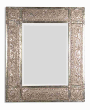 Harvest Serenity Wall Mirror with Golden Champagne Leaf Undertones Brand Uttermost