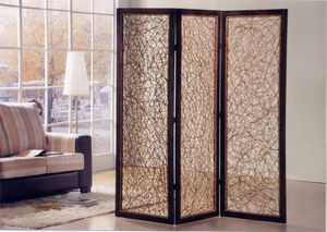 Hawaii 3 Panel Rattan Screen Crafted with Natural Finish Brand Screen Gem