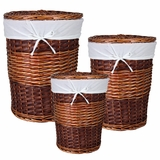 Hawaii 3pc Round Willow Hamper by Entrada by Entrada