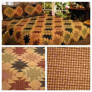 Hawaiian-Pineapple Quilt Queen Size 90 Inch X 90 Inch Handmade by American Hometex