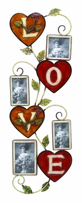 Heart Love Floral Wall Photo Frame - Set of 4 Picture Frames Brand Woodland