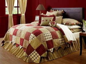 "Heartland Bed Skirt Queen 60x80x16"" Brand VHC"