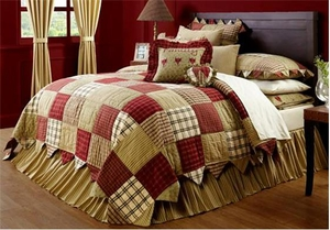Heartland Cotton Comfortable Twin Quilt with Classic Style Brand VHC