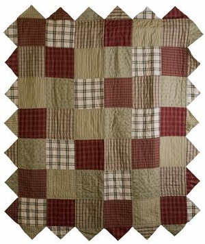 Heartland Cotton Throw Blanket with Country Style Patchwork Brand VHC