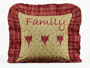 "Heartland Pillow Family Ruffled 16x16"" Brand VHC"
