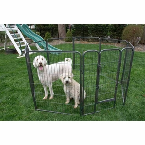 Heavy Duty Metal Tube pen Pet Dog Exercise and Training Playpen - 40 Inch Height