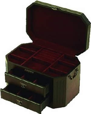 Heirloom Cherry Jewelry Box With Handle Brand Woodland