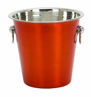 High Grade Stainless Steel Wine Cooler in Red with Two Handles Brand Woodland