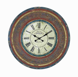 Highly Durable Wood Wall Clock with Large Roman Numerals Brand Woodland
