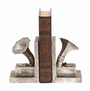 Historic Era?s Silvery Phonogram Bookend Brand Benzara