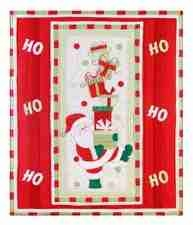 Ho Ho Ho Santa Holiday Throw, 50 Inch  X 60 Inch Brand C&F