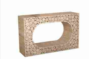 Hole Klaten Glass Console with Smooth and Spacious Top Panel Brand Woodland