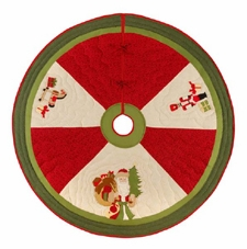Holiday Gifts Themed Wrap Around Christmas Tree Skirt Brand C&F