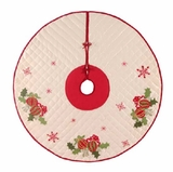 Holiday Ornaments Themed Wrap Around Christmas Tree Skirt Brand C&F