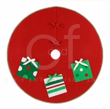 Holiday Presents Themed Wrap Around Christmas Tree Skirt Brand C&F