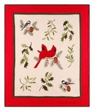 Holiday Song Birds Themed Throw Blanket For Your Warm Bed Brand C&F
