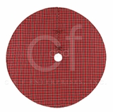 Holiday Wrap Around Christmas Tree Skirt In Rich Red Plaid Brand C&F