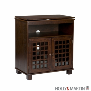 Holly & Martin Akita Swivel Top Media Stand-Espresso by Southern Enterprises