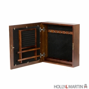 Holly & Martin Brielle Espresso Square Wall-Mount Jewelry Armoire by Southern Enterprises