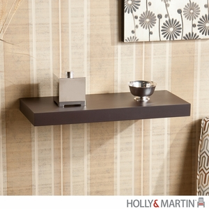 "Holly & Martin Cadence Floating Shelf 24""-Espresso by Southern Enterprises"