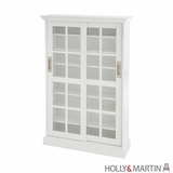 Holly & Martin Emerson Sliding Door Media Cabinet-White by Southern Enterprises
