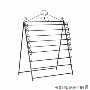 Holly & Martin Evelyn Easel/Wall Mount Craft Storage Rack-Black by Southern Enterprises