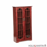 Holly & Martin Grayson Window Pane Media Cabinet-Cherry by Southern Enterprises