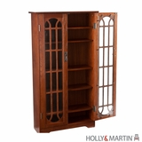 Holly & Martin Grayson Window Pane Media Cabinet-Oak by Southern Enterprises