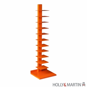 Holly & Martin Heights Book/Media Tower-Orange by Southern Enterprises
