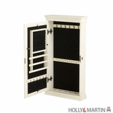 Holly & Martin Juliette Wall-Mount Jewelry Armoire-Antique White by Southern Enterprises