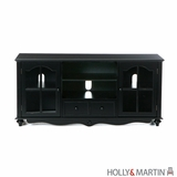 Holly & Martin Roosevelt Large TV Console-Antique Black by Southern Enterprises