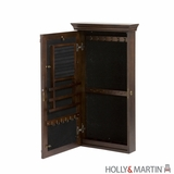 Holly & Martin Vivienne Wall-Mount Jewelry Armoire-Espresso by Southern Enterprises