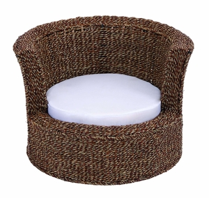 Hollywood Style Pet Bed With Wicker Weaved Rattan Wood Brand Woodland