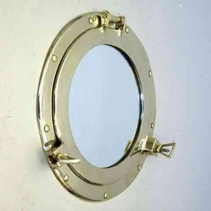 Home Decor _ Brass Porthole Cover With Mirror Or Ship Sidescuttle Brand IOTC