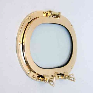 Home Decor _ Brass Porthole Oblong With Glass And Used On Ship Brand IOTC