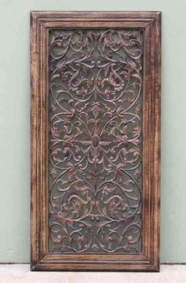 Carved Wooden Wall Panel Sculpture Brand IOTC